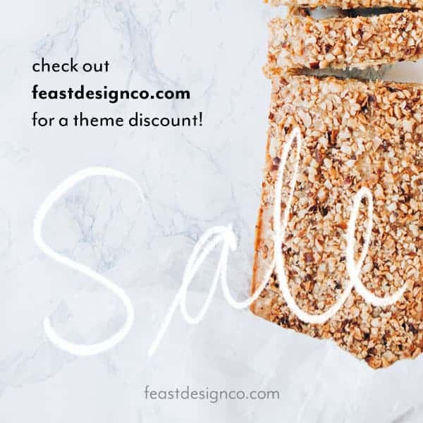 Feast Design Co WordPress Themes for Food Bloggers Lifestyle Bloggers